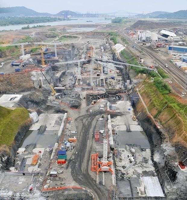 Obras de la ampliación del Canal de Panamá