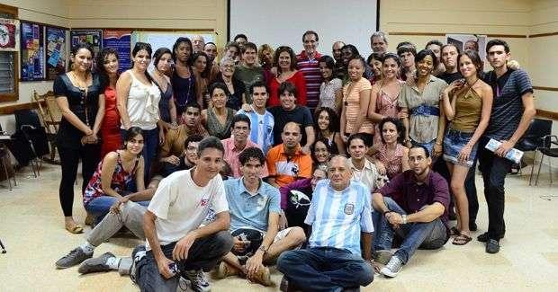 Los blogueros reunidos en el CMLK / Foto: Claudio Peláez Sord