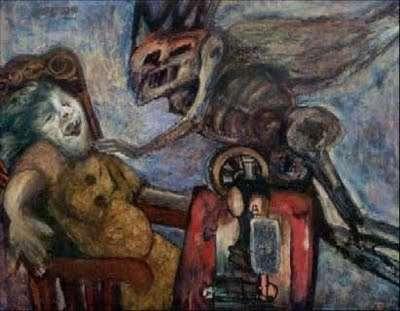 La Anuncuación, una de las pinturas más conocidas de Antonia Eiriz