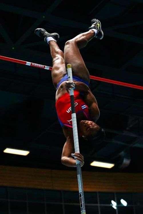 Yarisley Silva durante la competencia